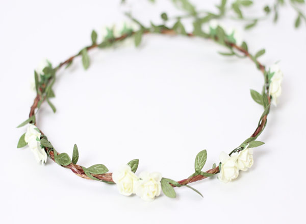 Ivory Wedding Headpiece Flower Hair Wreath White Floral Crown Headpiece
