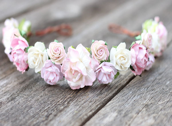 Blush And Ivory Maternity Flower Crown