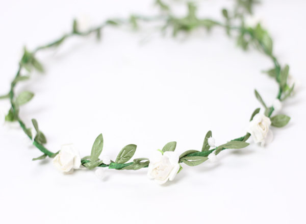 White Floral Crown Coachella Flower Crown | Wedding Flower Crown