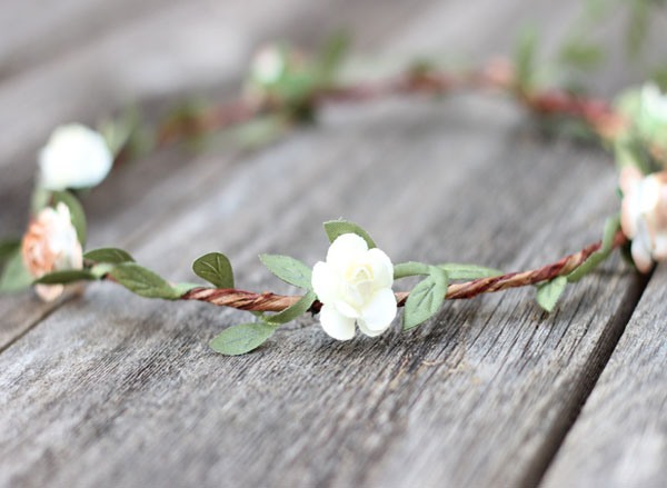 Natural Wedding Green Leaf Crown Earth tone Flower Crown
