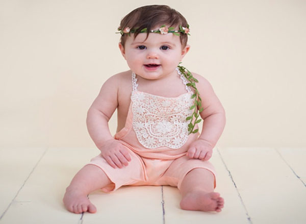 Girls Flower Crown Spring Toddler Floral Crown