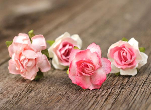 Pink wedding flower hair pins blush bridal hair accessories roses flower hair pin in blush pink and ivory bridal hair accessories mightylinksfo