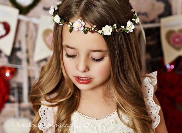 Spring Flower Crown Ivory Girls Wedding Hair Crown Lilac Bridal Floral Crown  Halo b062f5d87f9