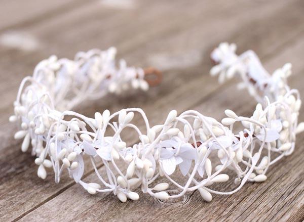 Blush flower crown pink bridal headband wedding hair crown white wedding flower crown headpiece boho hair crown bridal halo mightylinksfo