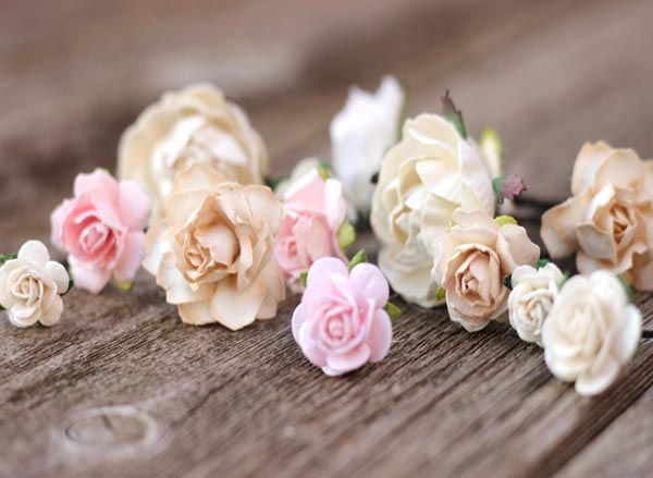 Wedding Flower Blush Hair Pin Champagne Wedding Bobby Pin Ivory