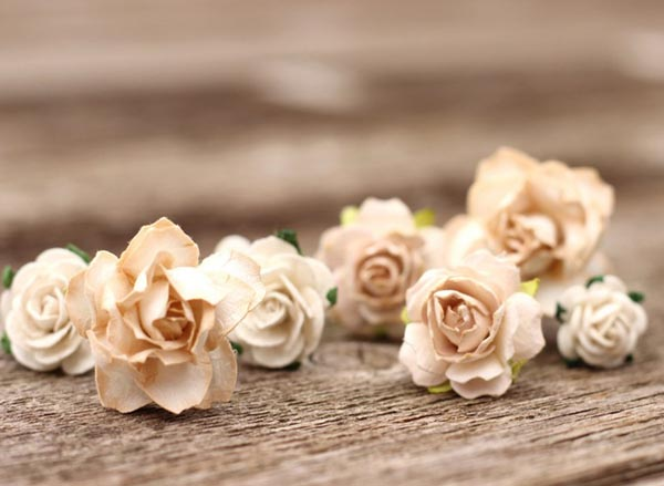 Wedding Flower Hair Pins Champagne Wedding Flower Bobby Pins Ivory