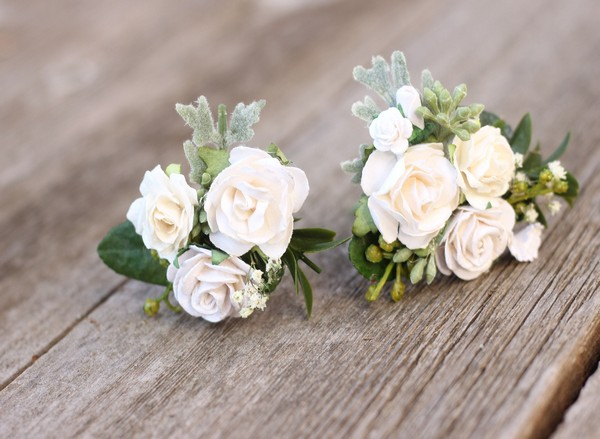 Baby Breath Wedding Flower Hair Pins Bridal White Hair Pins Preserved